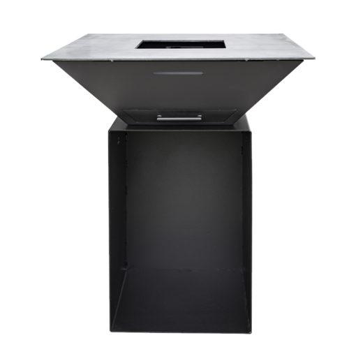 Feuerplatten Grill BigQube M Wood schwarz